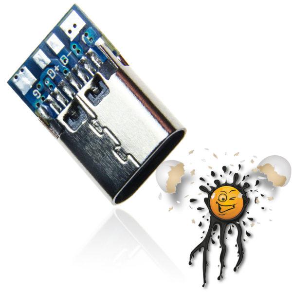 USB-C Standard Adapter Module, Connector length 7mm