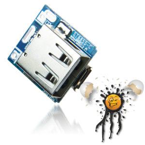 134N3P 5V USB Li Ion charger module