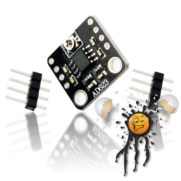 AD623 Instrumentation Amplifier Module incl. Pinheader