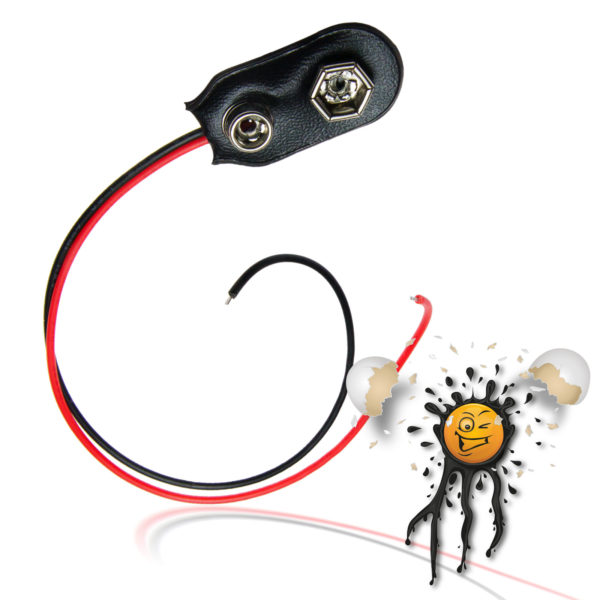 9V Battery Snap on Adapter Cable 100 mm