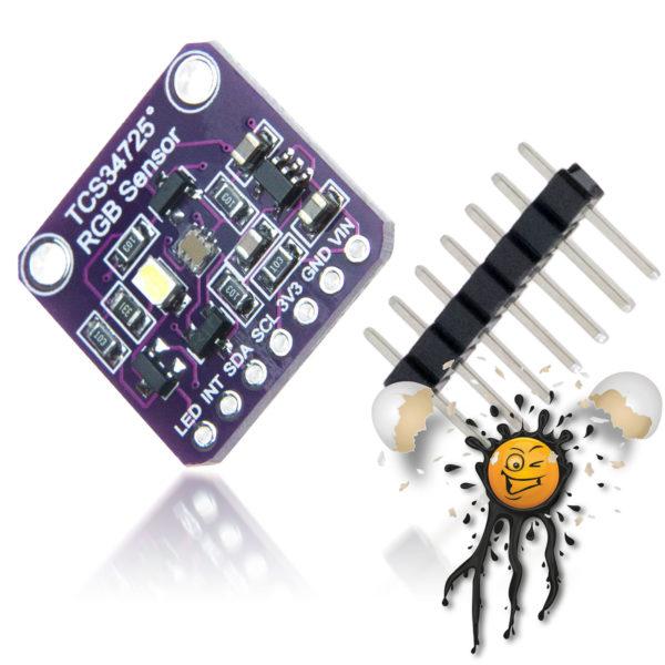 TCS34725 RGB Light Color Sensor incl. Pinheader