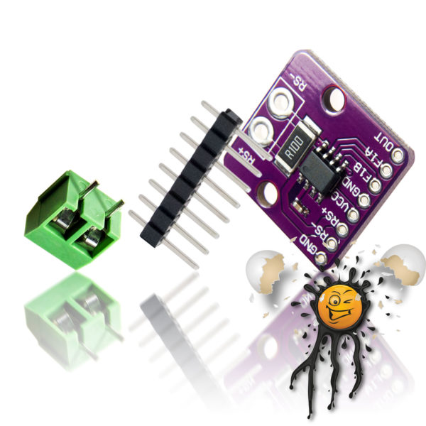 MAX4080 analog high/low side Current- Sensor incl. Pin Header and Screw Connector