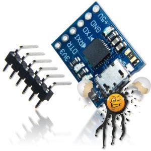 CP2102 Micro USB TTL Converter incl. Pinheader