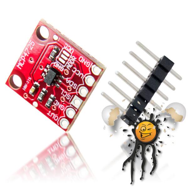 MCP4725 I2C DAC Module Board incl. Pinheader