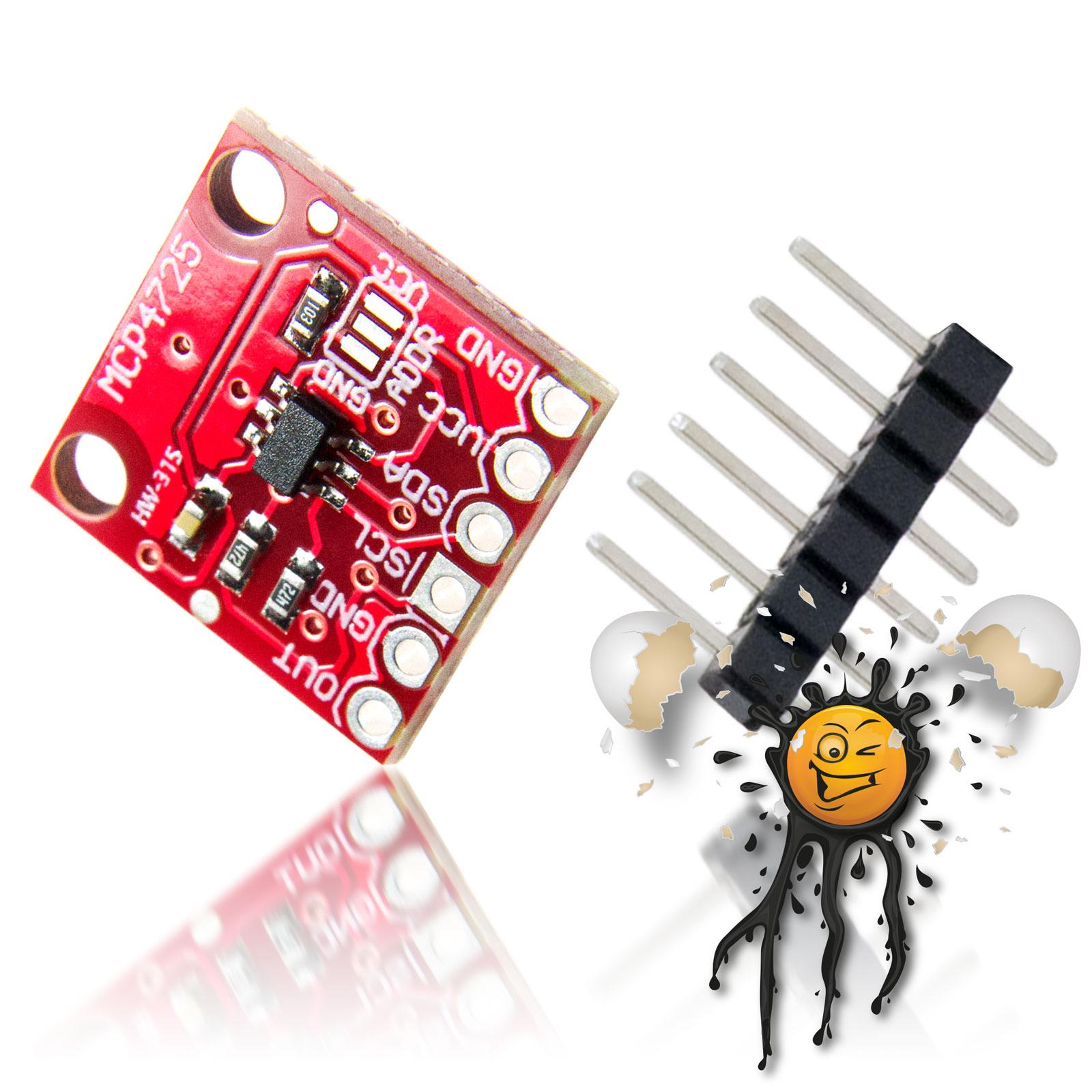 MC4725 I2C DAC Expander Board