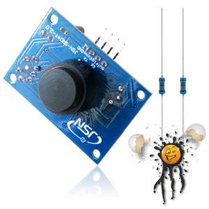 JSN-SR04 Version 2 Ultrasonic Sensor Set incl. Resistors