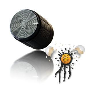 Aluminum Potentiometer Knob black