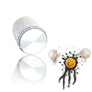 Aluminum Potentiometer Knob silver