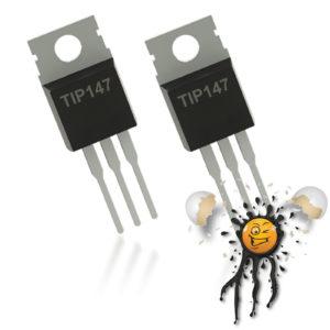 2 pcs. TIP147 PNP Darlington Transistor TO-220