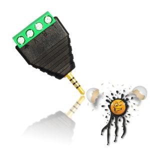 2.5 mm 4 core Audio Adapter