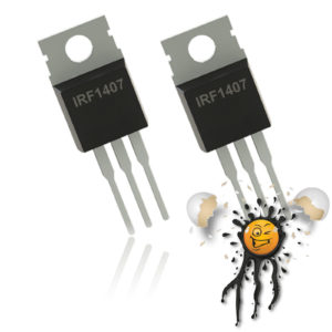 2 pcs. IRF1407 N Channel PWM Mosfet TO-220
