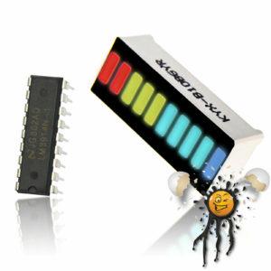 Bargraph 10 segment LED Module Set incl. LM3914N IC
