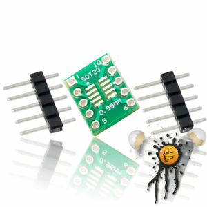 SOP10 SOT23 to Dip Break Out Adapter incl. Pins