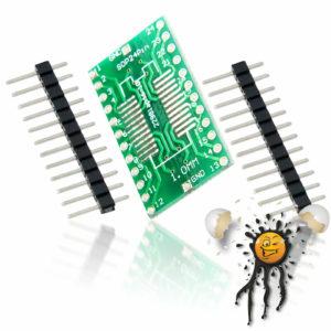 SOP24 SSOP24 to Dip Break Out Adapter incl. Pins