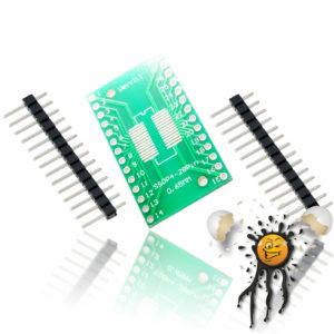 SOP28 SSOP28to Dip Break Out Adapter incl. Pins