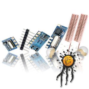 315 MHz. 433 MHz. RF mini Module Set compl.
