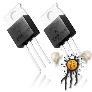 2 pcs. IRF N Channel PWM Mosfet TO-220