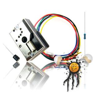 GP2Y1014AU0F Paricle Sensor Set incl. Wire Resistor Capacitor