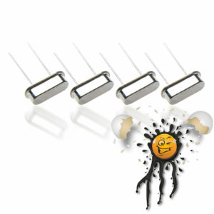 4pcs. HC49S Crystal Oscillator from 4MHz. to 25MHz.