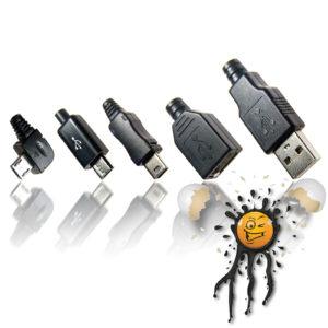 USB 2.0 Micro Mini 90° 4 pin 5 pin connector